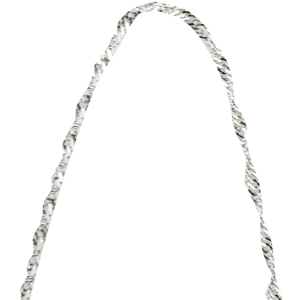 Singapore White Gold Chain Necklace 18kt 750 / 000 - LUPPINO GIOIELLI SRLS