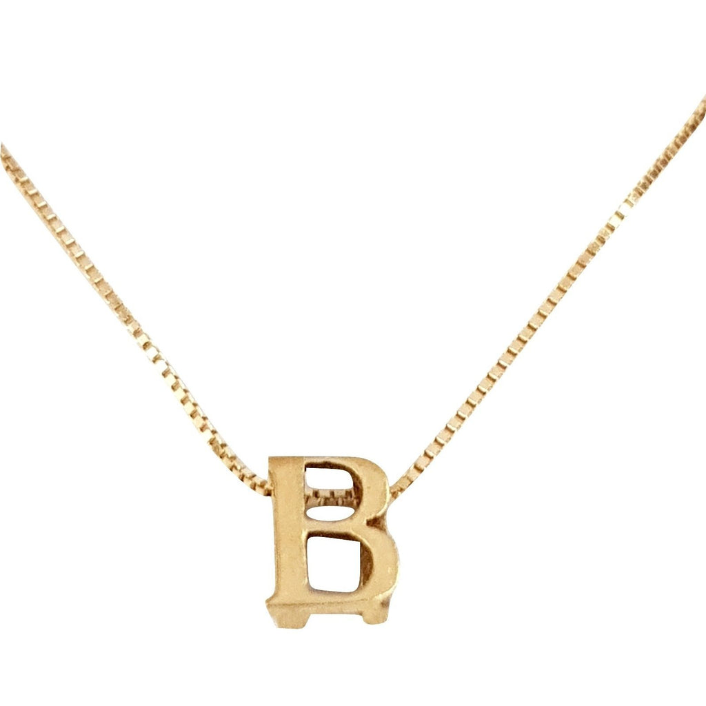 18kt 750 Yellow Gold Necklace with Initial Pendant B - LUPPINO GIOIELLI SRLS