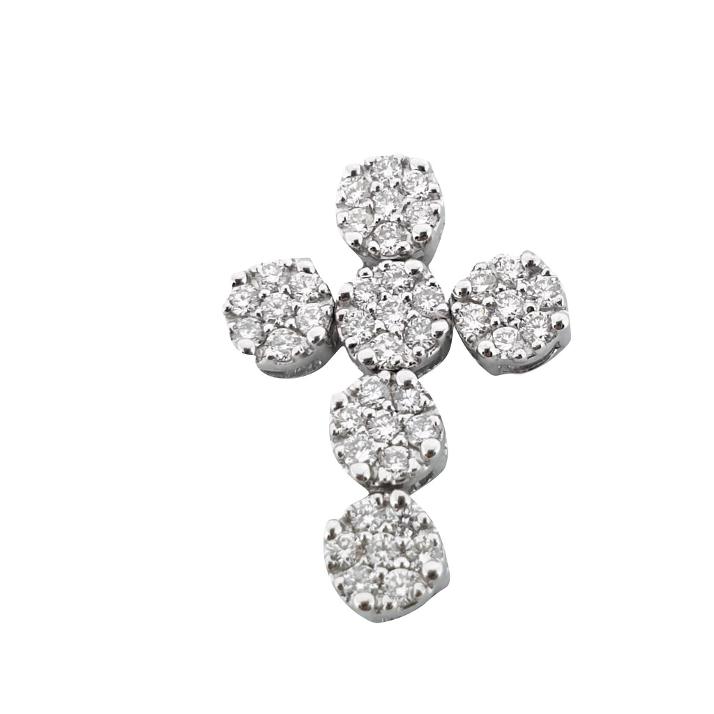 Cross Pendant Magic in White Gold 18kt 750 / 000 with diamonds 0.60ct f vvs