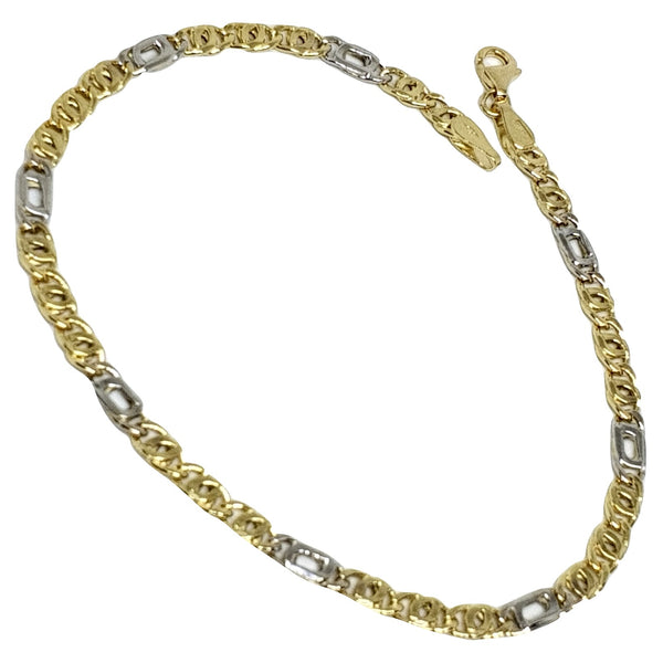 Yellow and White Gold Man Bracelet 18kt 750 / 000 - Offer of the Week - LUPPINO GIOIELLI SRLS