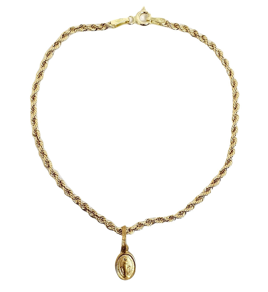 18kt 750 yellow gold bracelet with Miraculous pendant
