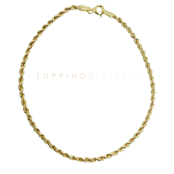 Yellow gold Rope bracelet 18kt 750 / 000 - LUPPINO GIOIELLI SRLS
