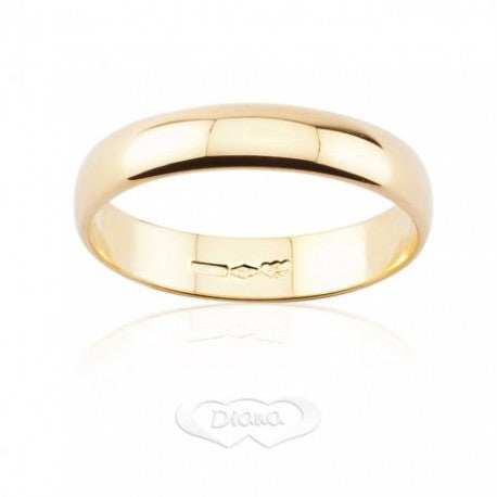 Trauring DIANA Classica 3 Gramm breites Band Gelbgold 18ct 750 - LUPPINO GIOIELLI SRL