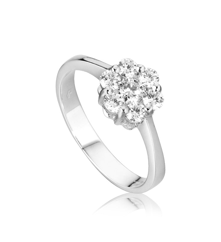 Ring Woman White Gold 18kt (750 / 000) Magic Diamonds 0,10CT F - VVS