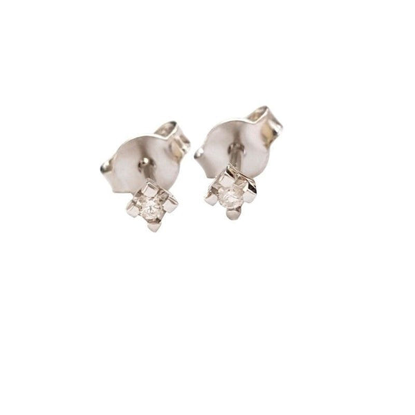 Light Point Earrings with Diamonds 0,10ct F VVS - White Gold 18kt 750 / 000 - LUPPINO GIOIELLI SRLS