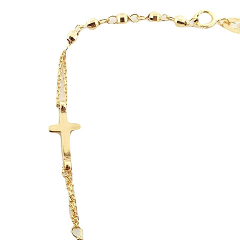 Rosary bracelet in yellow gold 18kt 750 / 000 with Miraculous and Cross 2,60grammi - LUPPINO GIOIELLI SRLS