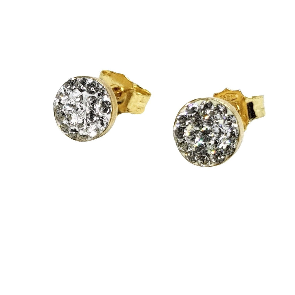 Copy of the Earrings in Yellow Gold 18ct 750 / 000 with White Cubic Zirconia