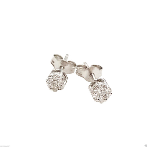 Magic Point Earrings in White gold 18kt 750 with Diamonds 0,12ct F VVS - LUPPINO GIOIELLI SRLS