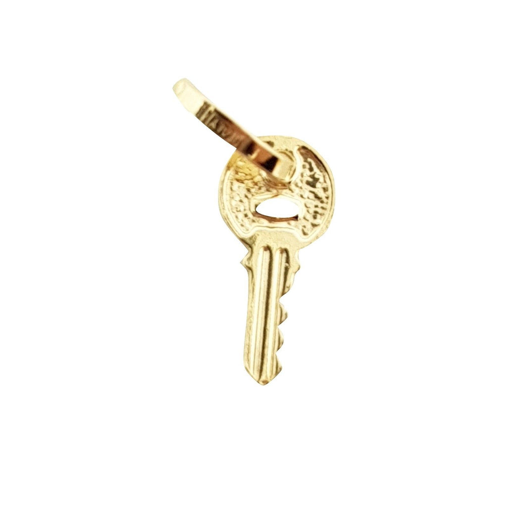 Small Yellow Gold Key Pendant 18KT 750 / 000 - LUPPINO GIOIELLI SRLS