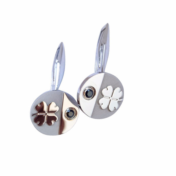 Men's Cufflinks in SILVER 925 and Black Zircon MEN'S GIFT - LUPPINO GIOIELLI SRLS