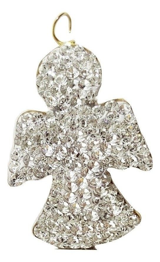 Angel pendant in yellow gold 18kt 750 / 000 and Cubic Zirconia - LUPPINO GIOIELLI SRLS