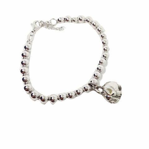 Bracelet Man Woman 5,5mm Balls in Silver 925 and Elephant Pendant - LUPPINO GIOIELLI SRLS
