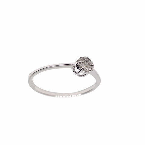 Ring Woman White Gold 18kt (750 / 000) Magic Diamonds 0,10CT F - VVS - LUPPINO GIOIELLI SRLS