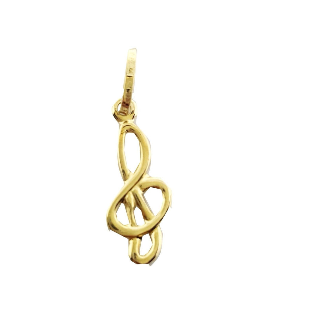 Violin Key Pendant in Yellow Gold 18 kt 750 - LUPPINO GIOIELLI SRLS