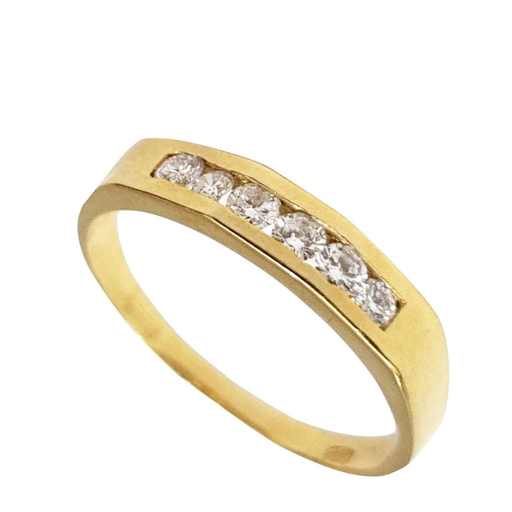 Ring in yellow gold 18kt 750 with 0,20ct of Diamonds F VVS - LUPPINO GIOIELLI SRLS