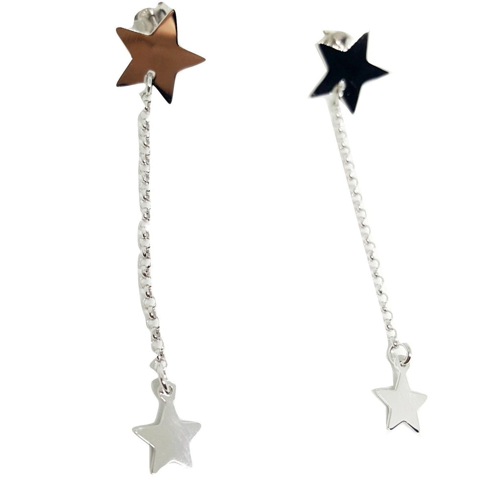 Silver Star Woman Pendant Earrings 925 - LUPPINO GIOIELLI SRLS