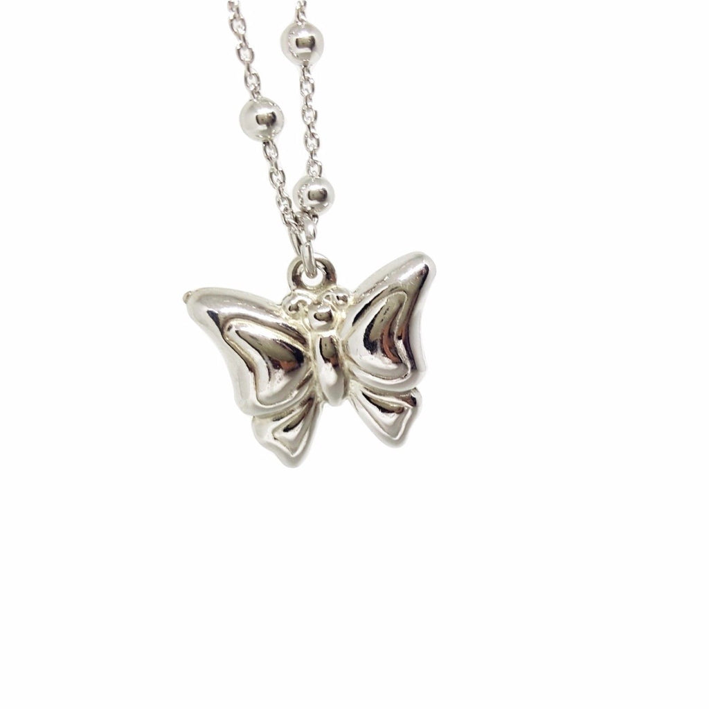 Long Necklace and Butterfly Pendant in Silver 925 - LUPPINO GIOIELLI SRLS