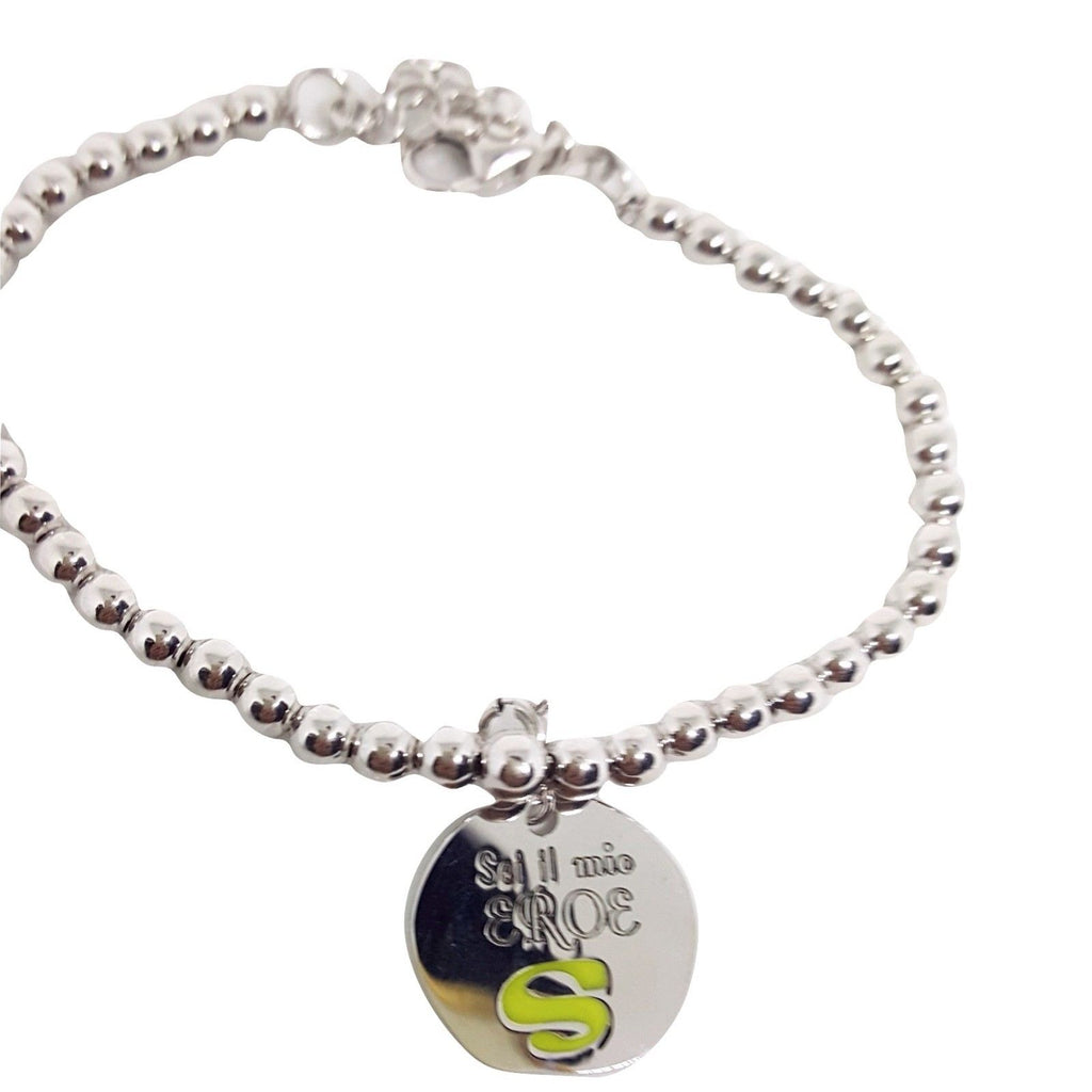 "Bracelet Man Woman Balls 4mm Silver 925 ""You are my Hero"" - LUPPINO GIOIELLI SRLS"