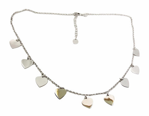 Silver Hearts Necklace 925 - LUPPINO GIOIELLI SRLS