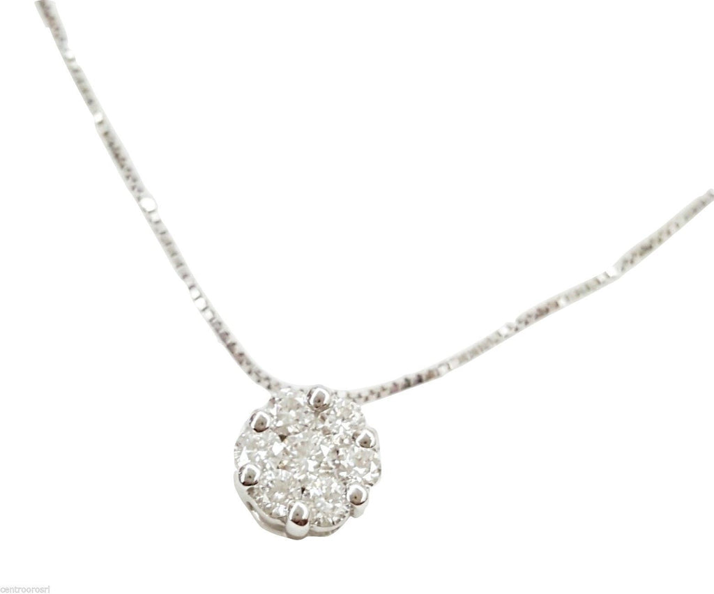 Magic Light White Gold Necklace 18kt 750 / 000 with Diamonds 0,12 F VVS - LUPPINO GIOIELLI SRLS