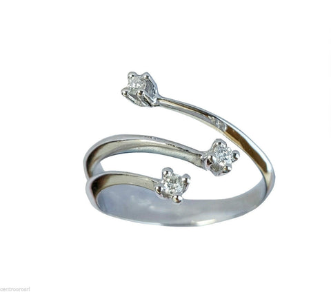 Ring Engagement trilogy with natural Diamonds 0,24 ct - LUPPINO GIOIELLI SRLS