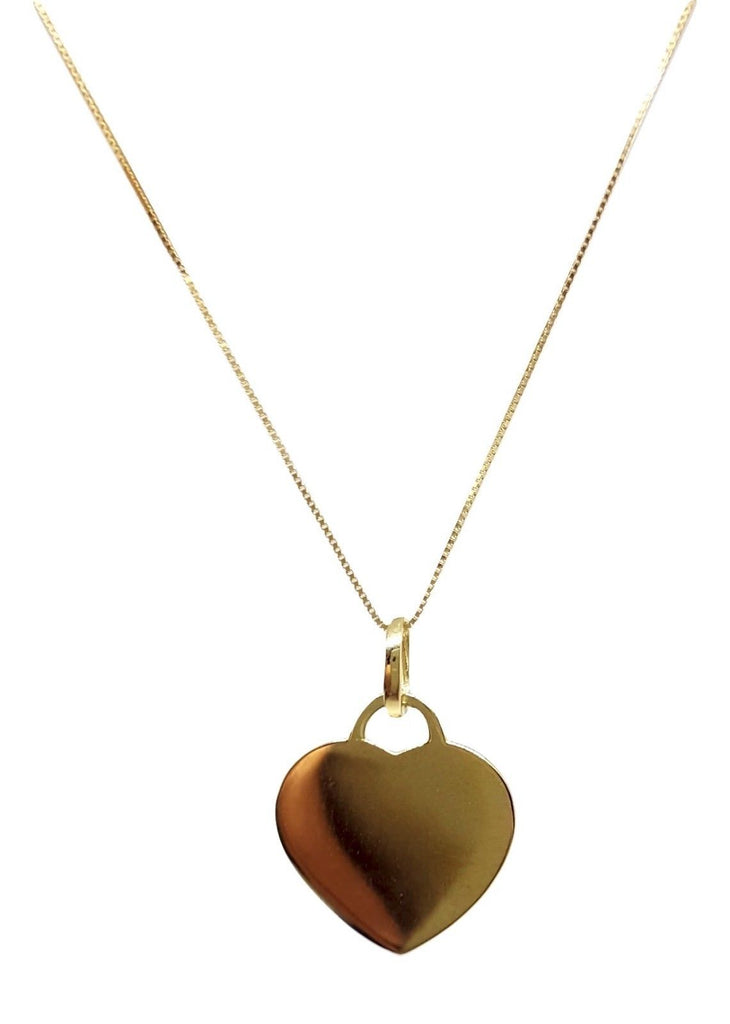 Necklace and Heart Pendant in Yellow Gold 18kt 750 / 000 - Free Letter Engraving - LUPPINO GIOIELLI SRLS