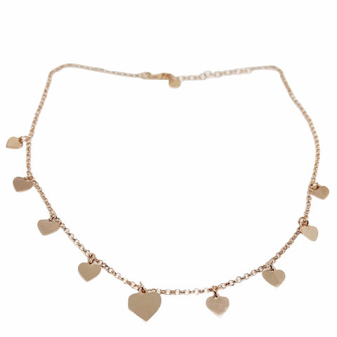 Pink Hearts Necklace 925 - LUPPINO GIOIELLI SRLS
