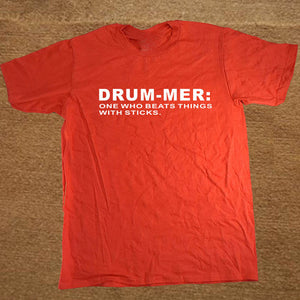 Red Funny Drummer T-Shirt