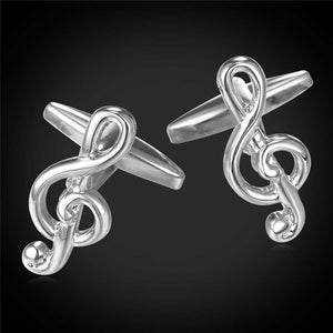 Silver Treble Cuff Links