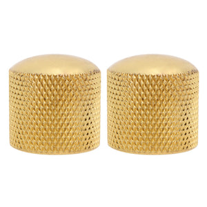 Gold 4 Piece Metal Electric Guitar/Bass Knobs