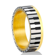 Load image into Gallery viewer, Gold Plated Piano Ring