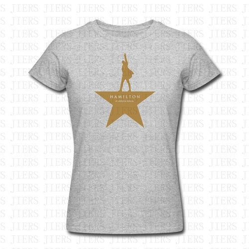 Gray Women's Hamilton Musical Broadway T-Shirt