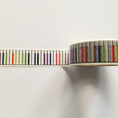 Colorful Piano Themed Washi Tape