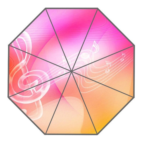 Pretty Pink and Colorful Music Umbrella