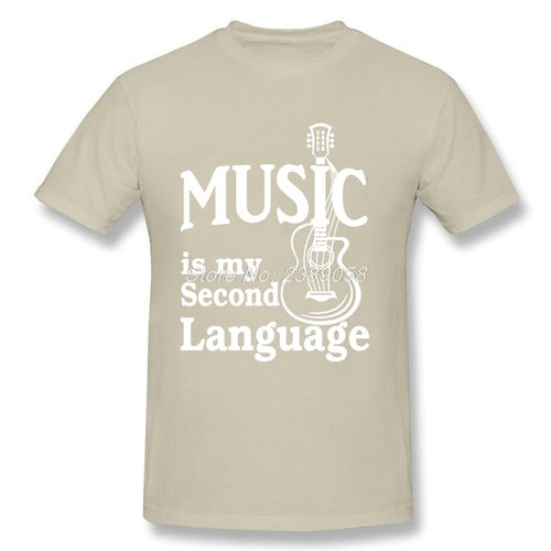 Tan Music is my Second Language T-Shirt
