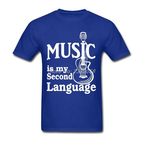 Blue Music is my Second Language T-Shirt