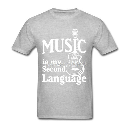 Gray Music is my Second Language T-Shirt