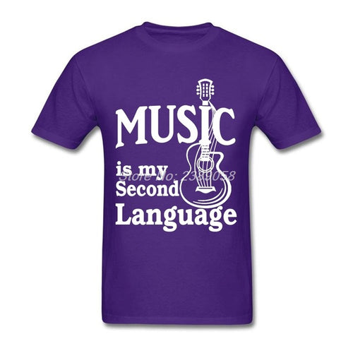 Purple Music is my Second Language T-Shirt