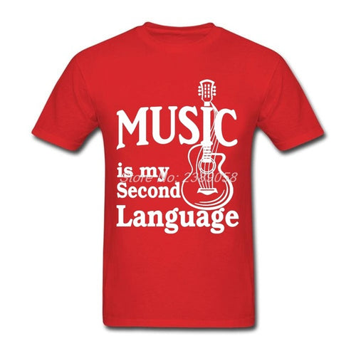 Red Music is my Second Language T-Shirt