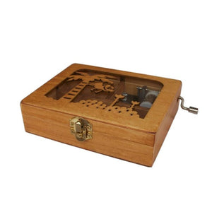 Monkey Wooden Hand Crank Music/Jewelry Box