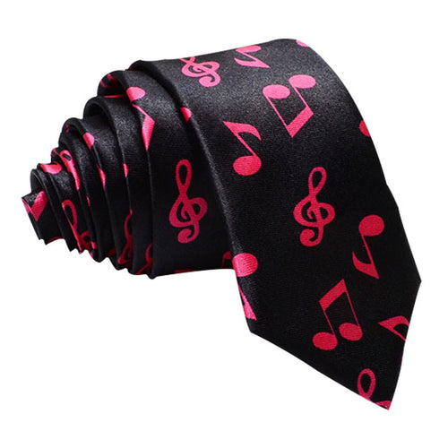 Pink and Black Music Tie