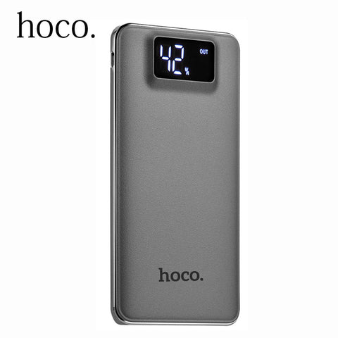 Original New HOCO Power Bank 10000mah 2 USB External Battery Portable Charger Powerbank For Android phones For iphone Xiaomi