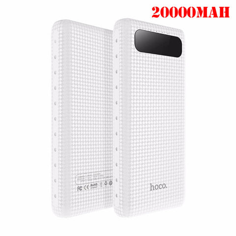 HOCO 20000mAh Dual USB Power Bank 18650 Portable External Battery Universal Mobile Phone Charger PowerBank 10000mAh For Phones