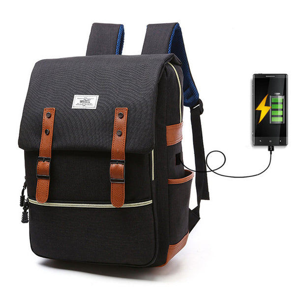 USB Smart Backpack Men Shoulder Bag Female Middle School Student Bag Male Large Capacity Women Travel Bag  Girl Computer Bag