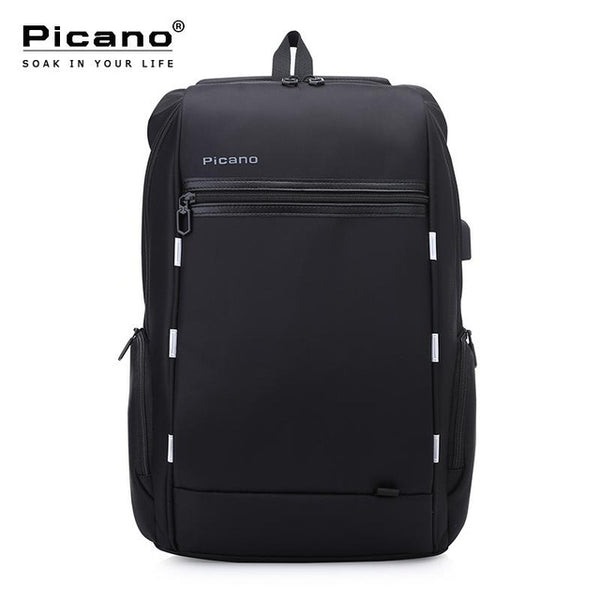 Picano Design Anti-theft Usb Charging Travel Backpack Smart Business Backpack Men Classic Black 15.6 Inch Laptop Backpack PCN036