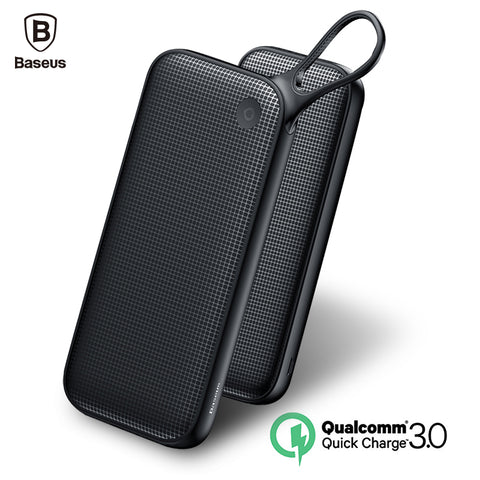 Baseus 20000mAh Power bank Quick Charge 3.0 Powerbank QC3.0 Fast External Battery Charger Dual USB Type C Output Poverbank