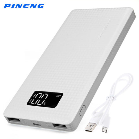 Genuine PINENG PN - 963 10000mAh Portable Battery Mobile Power Bank USB Charger Li-Polymer with LED Indicator