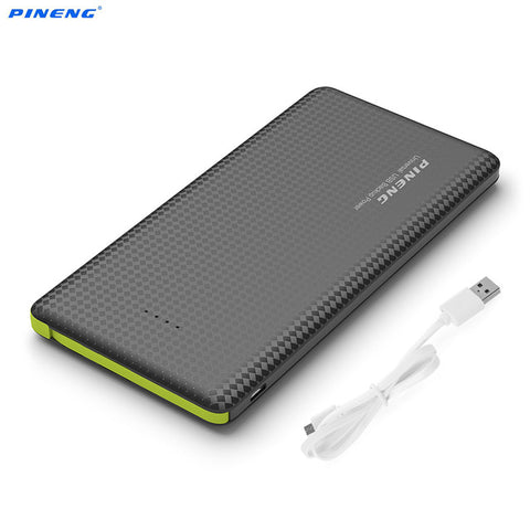 Genuine PINENG PN951 10000mAh Portable Mobile Power Bank Battery Charger Built-In Charging Cable External Battery Charger