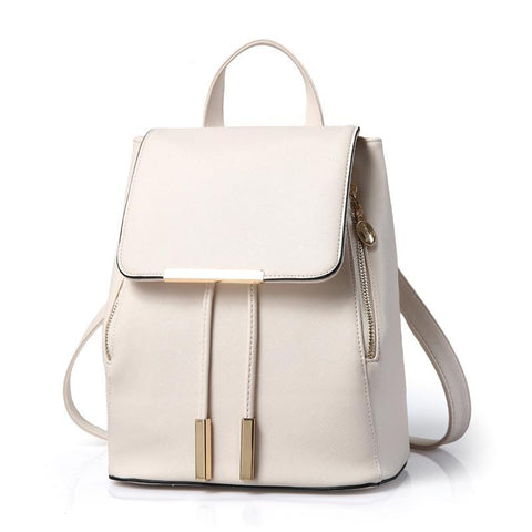 EWEMAN Travel Backpack Women Backpack PU Leather School Bags For Teenagers Girls Top-handle Backpacks Female School Shoulder Bag