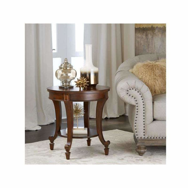Aidan Round End Table - END TABLE/SIDE TABLE